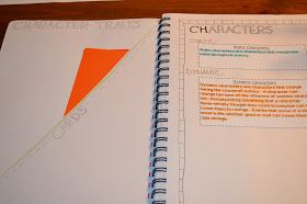 How to easily make a pocket in notebook...and other Literacy & Math Ideas- Organizing for Interactive Reading Journals