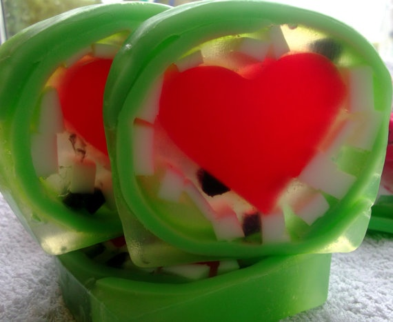 Watermelon Fruit Soap Bar Soap Art by Scentcosmetics on Etsy, £4.25