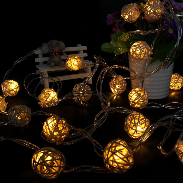 home decor led ball string lamps wedding garden pendant garland timbo lamp led christmas tree lights - Christmas Tree Lights Led