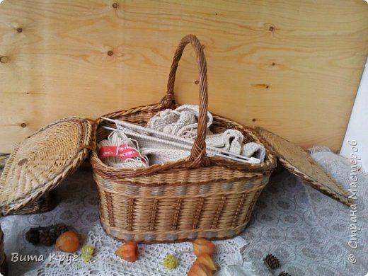 Поделка изделие Плетение История рукодельная -  Продолжение  Бумага газетная Трубочки бумажные фото 3
