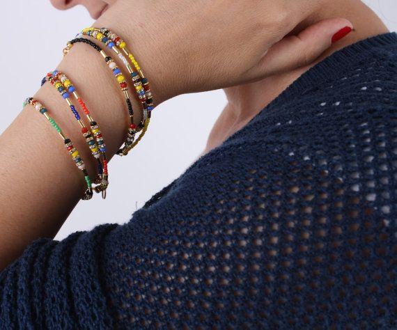 Beaded bracelets Gold Filled bracelet gipsy braceletevil by appax