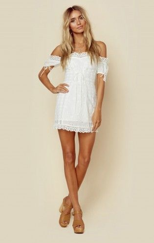 37278517421fd Anabelle Eyelet Lace Up Dress