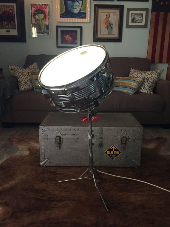 how to make a snare drum lamp