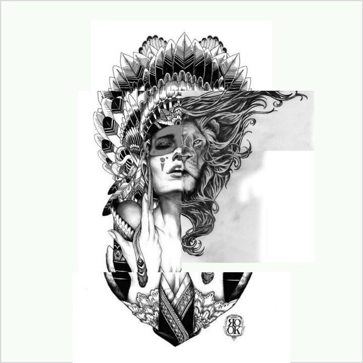 Pin by LarissaMonique Cuevas on Tattoos Headdress tattoo