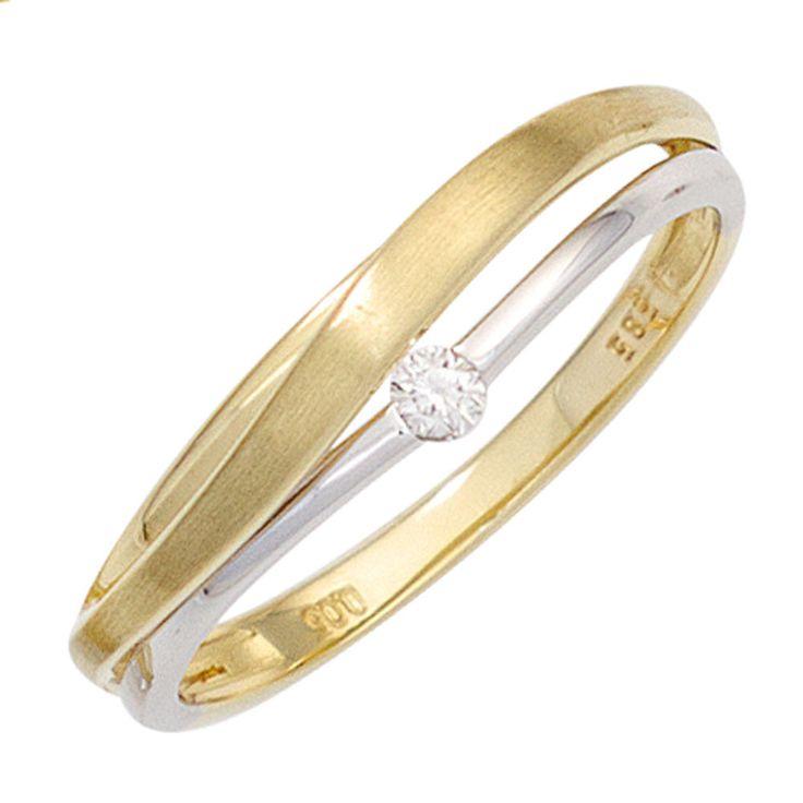 Damen Ring 585 Gold Gelbgold Weißgold bicolor matt 1 Diamant Goldring Gr.56 http://www.ebay.de/itm/Damen-Ring-585-Gold-Gelbgold-Weissgold-bicolor-matt-1-Diamant-Goldring-Gr-56-/152612329230?ssPageName=STRK:MESE:IT
