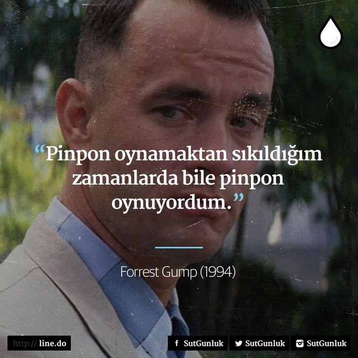 Pinpon oynamaktan sıkıldığım zamanlarda bile pinpon oynuyordum.   - Forrest Gump (1994)  #sözler #anlamlısözler #güzelsözler #manalısözler #özlüsözler #alıntı #alıntılar #alıntıdır #alıntısözler #filmreplikleri #filmsözleri #film