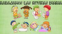 Imagenes para trabajar las rutinas de nuestros niños y niñas