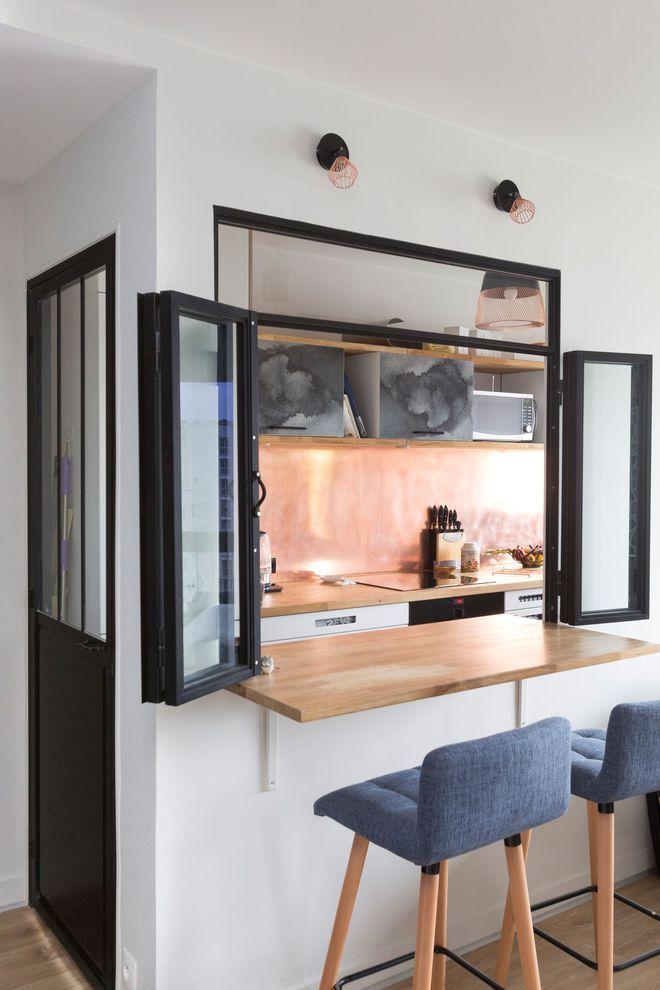 Les 25 meilleures id es de la cat gorie cloison vitr e sur for Prix verriere interieure cuisine