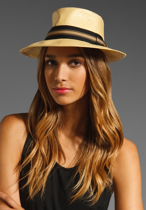 See our roundup of the chicest sun hats out there!: Tans Straws, Summer Hats, Hair Colors, Brixton Scouts, Scouts Hats, Black Tank, Revolvers Clothing, Revolve Clothing, Sun Hats