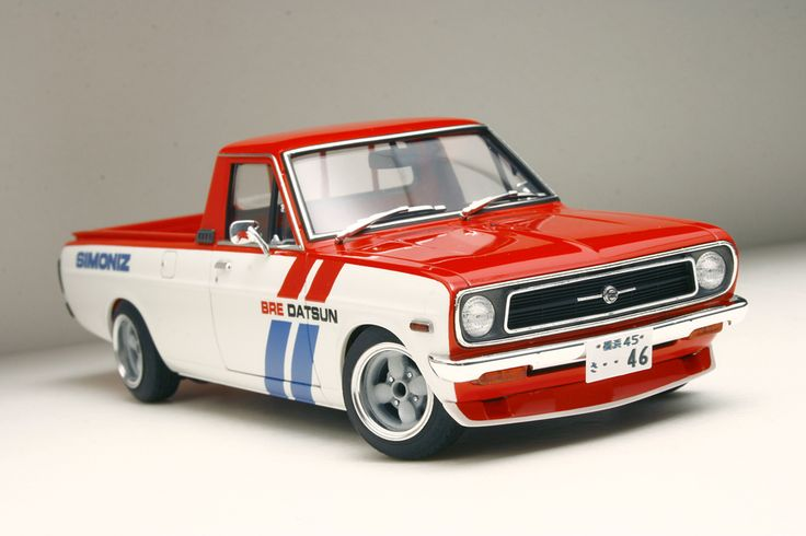"HASEGAWA NISSAN SUNNY TRUCK ""BRE"" racing version - cool idea!"