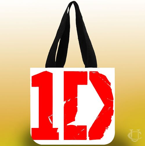 One direction logo red Tote Bags