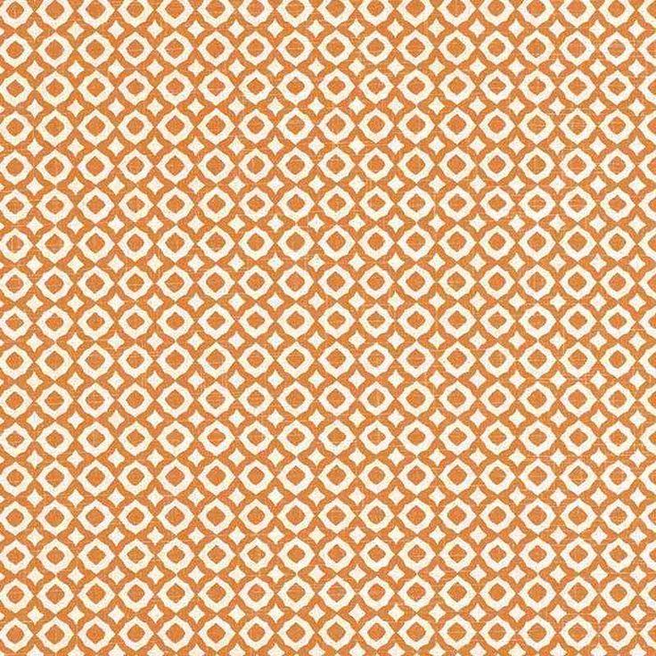 Warwick Fabrics : JAIPUR, Colour TANGERINE