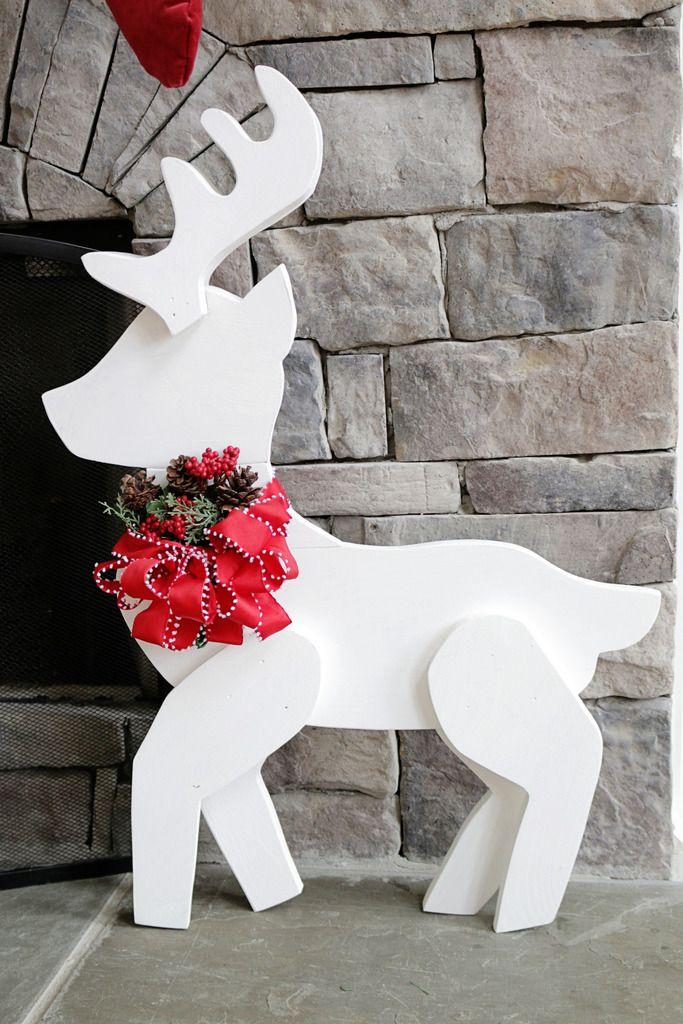 Homemade Wooden Christmas Yard Decorations : Best wooden reindeer ideas on christmas