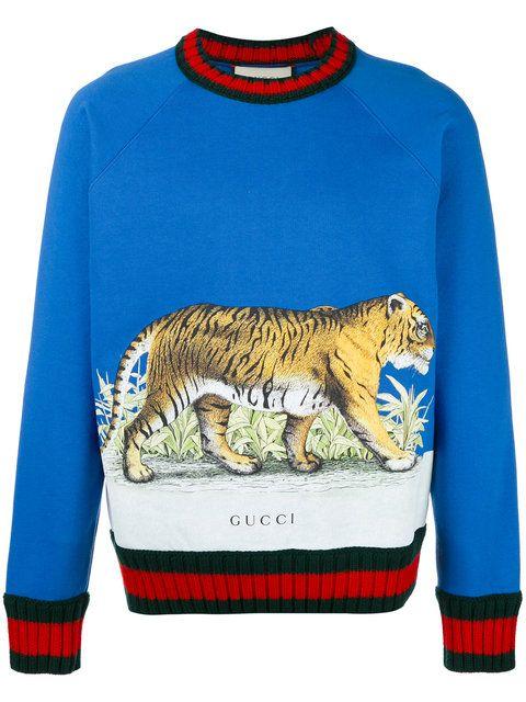 Gucci Tiger print sweater