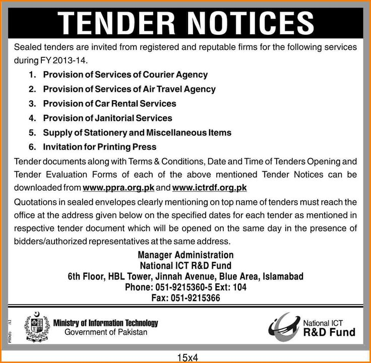 8  example of tender document