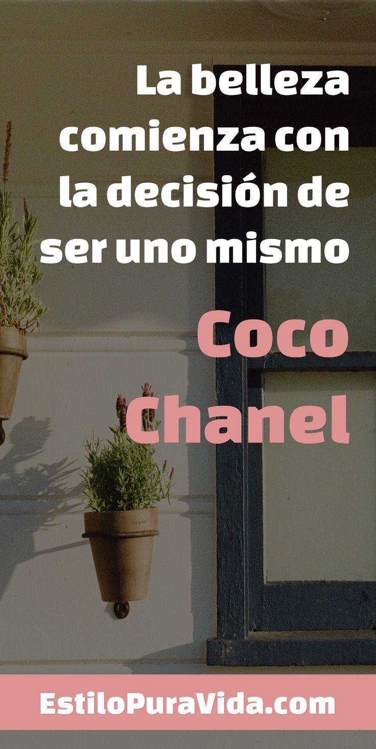 La belleza comienza con la decisión de ser uno mismo #inspiración #frase #cocoChanel EstiloPuraVida.com