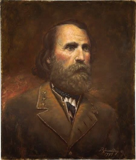 *AMBROSE POWELL HILL~ Following Jackson's death inMay 1863at the Battle of Chancellorsville, Hill was promoted to Lt.Gen+ commanded the 3rd Corps of Robert E.Lee's Army of NorthernVA,which he led in the Gettysburg Campaign +the fall campaigns of 1863.His command of the corps in1864–65 was interrupted on multiple occasions by illness,from which he did not return until just before the end of the war,when he was killed during theUnionArmy's offensive at the 3rd Battle of Petersburg.