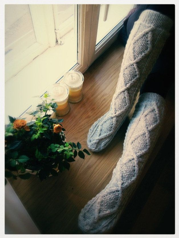 Autumn in DaWanda Socks – Wool socks. Socks for hiking. Hand knit socks. – a unique product by Beatrix-Beatrice on DaWanda