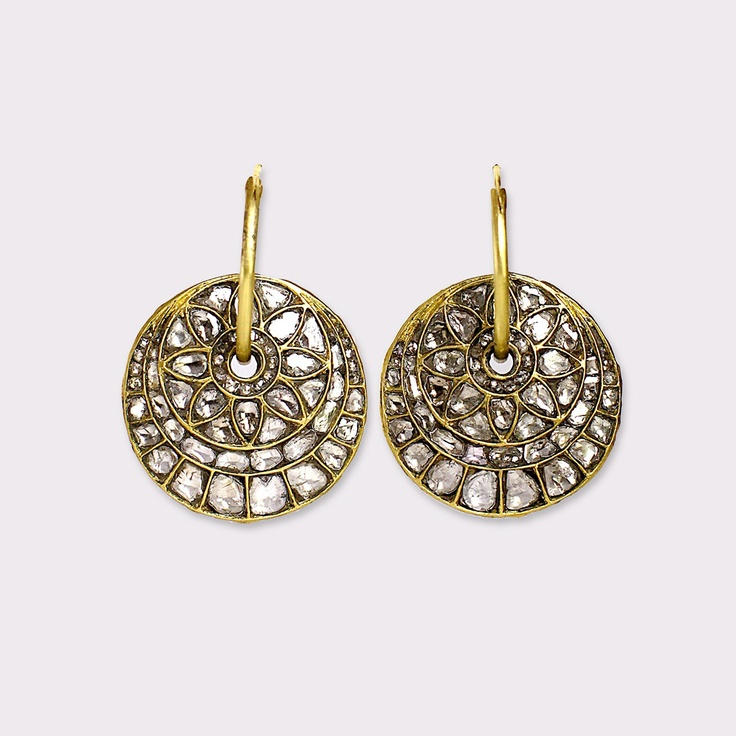 Amrapali Polki Diamond Earrings.