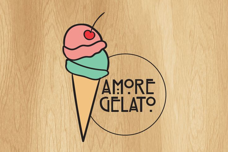 Amore Gelato Logo on Behance