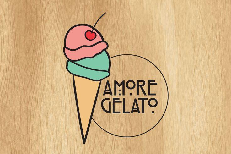 Amore Gelato Logo on Behance