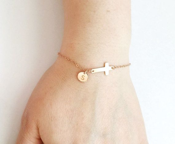Personalized Monogram Cross Bracelet