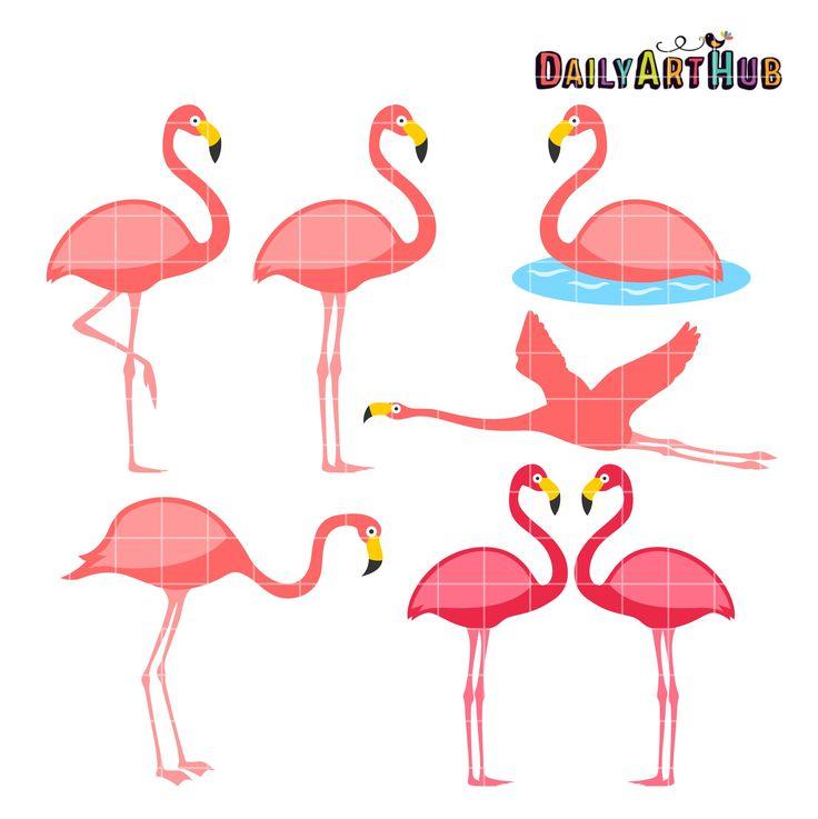 http://dailyarthub.com/product/flamingo-clip-art-set/