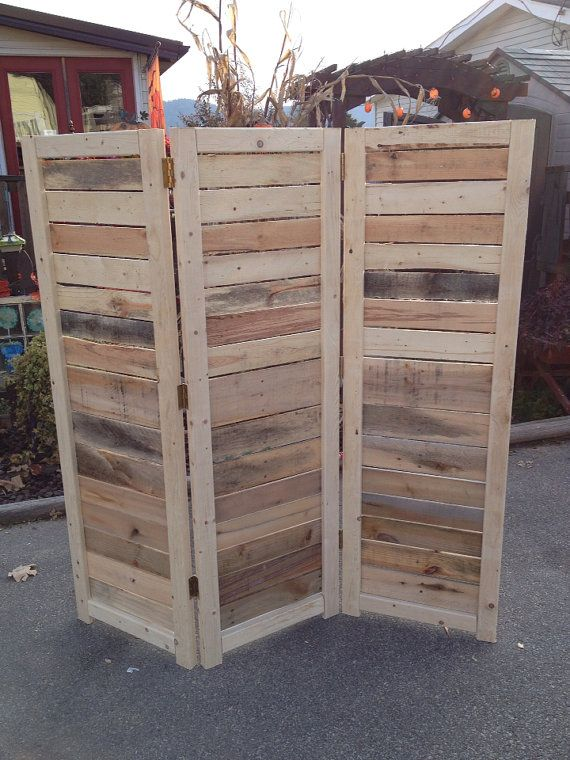 Handmade Primitive Room Divider / Movable by BanditsCollectibles