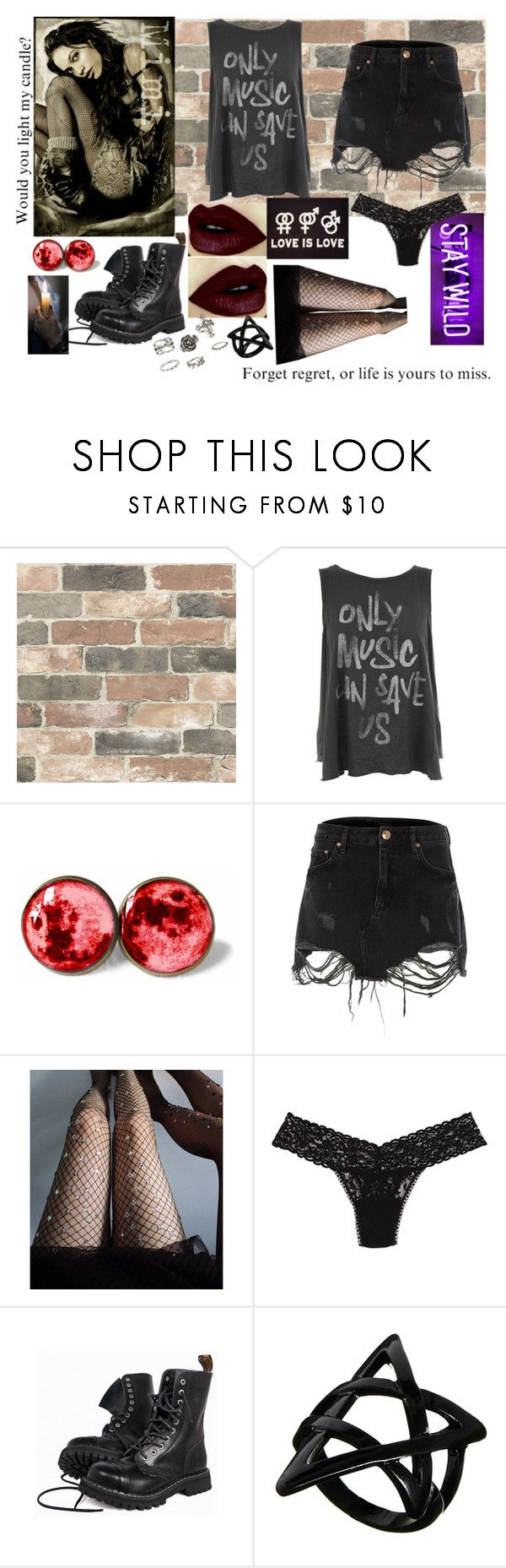 """Mimi"" by lots-of-planets ❤ liked on Polyvore featuring Wall Pops!, Junk Food Clothing, River Island, Lirika Matoshi, Hanky Panky, ASOS and Charlotte Russe"