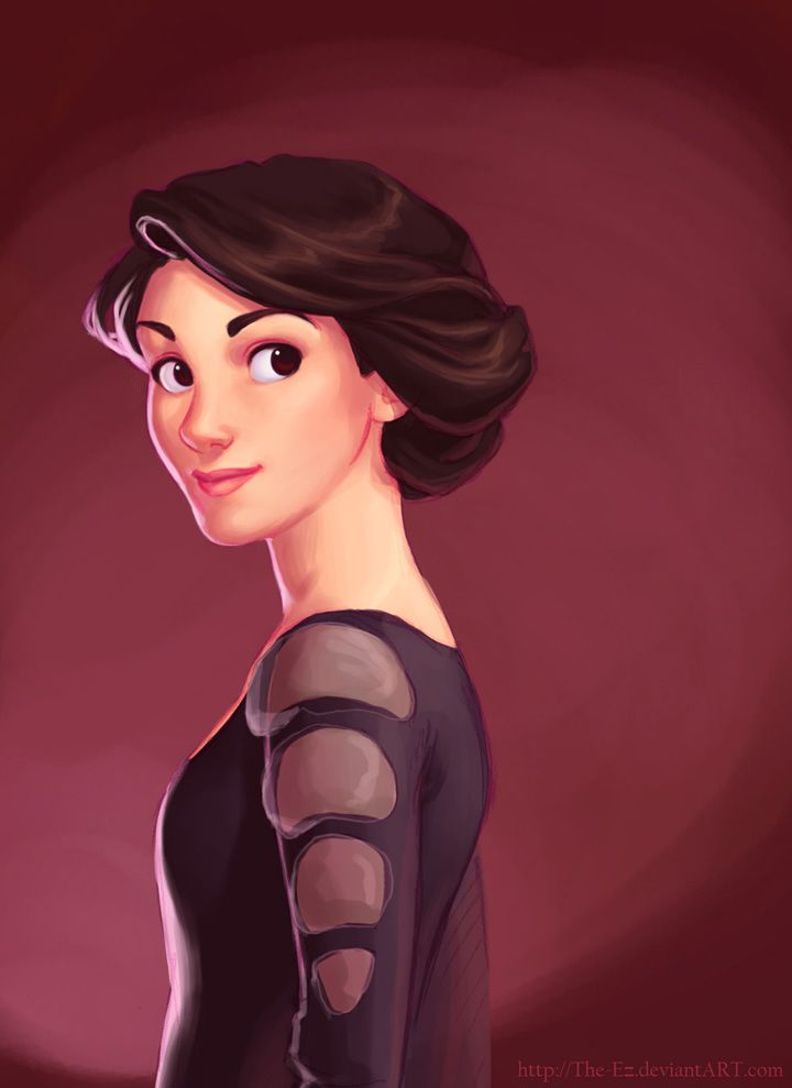 Lady Mary Grantham Crawley of Downton Abbey -- drawn  Disney style