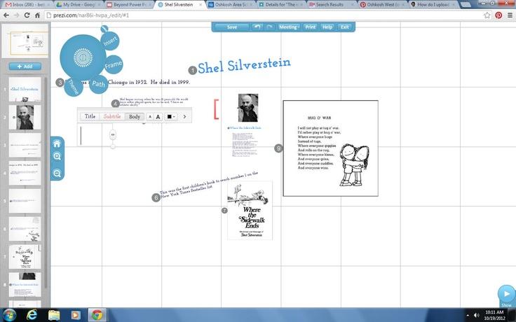 Prezi.com is a great presentation site.  Create an education account.