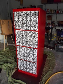 Filing cabinet upgrade, from boring metal to totally glam: Totally Glam, Crafts Ideas, Patties Stuff, Glam File, Filing Cabinets, Metals File Cabinets, Refinishing File Cabinets, Inspiration Collection, Crafty Ideas