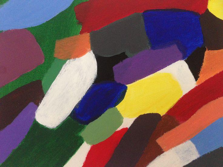 Färgvision 4 - Akryl på canvas