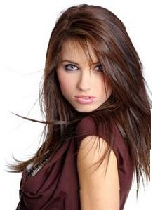 Long Hairstyles How To This Is A Full Layered Hairstyle With Swept Point Cut Bangs Style Flat Iron Smoothing Gel And Finish Light Hold