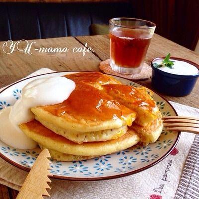 フライパンで!カラメルパリッパリのパンケーキ♡朝ごはん*ホットケーキ*朝チャンに⁉︎ー