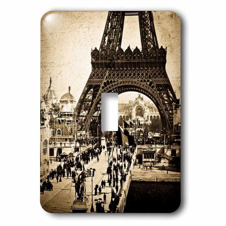3dRose Eiffel Tower with the Champ De Mars in the Distance Paris Exposition , 2 Plug Outlet Cover