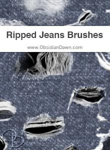 Ripped Jeans Brushes | PHOTOSHOP TUTORIALS | Ripped Jeans ...