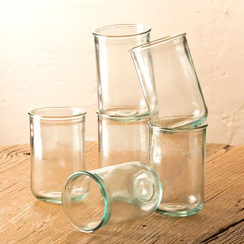 Simple Recycled Glass Drinkware Collection | VivaTerra
