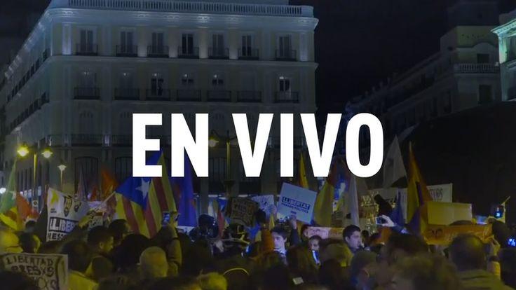 """ICYMI: EN VIVO: Manifestación en Madrid en apoyo a los """"presos políticos"""""""