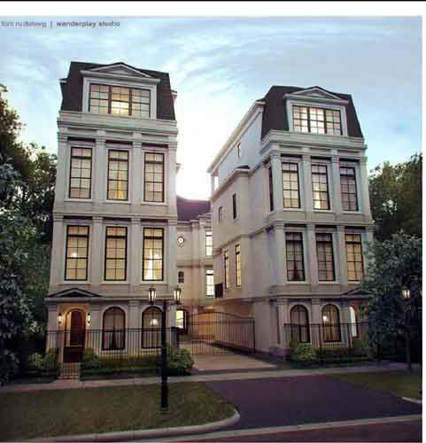 Gorgeous building my favorite house styles pinterest Elevator townhomes