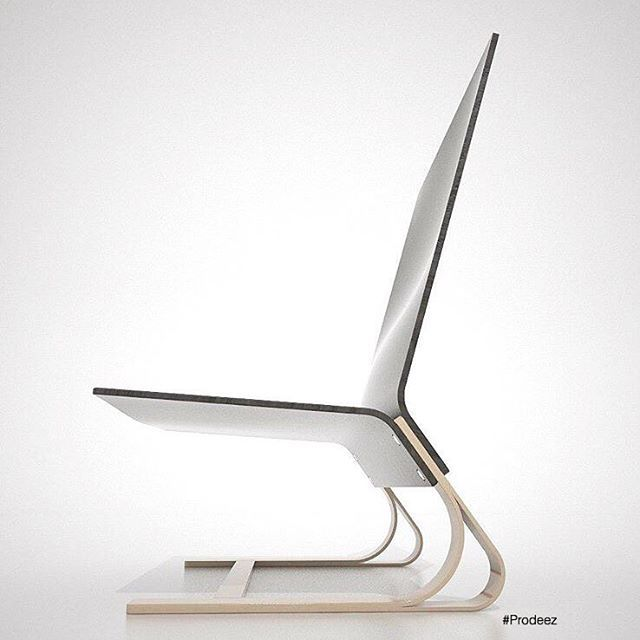 Cantilever Laminated Plywood Chair By Manuel Galipeau #furniture #chair # Wood #creative #