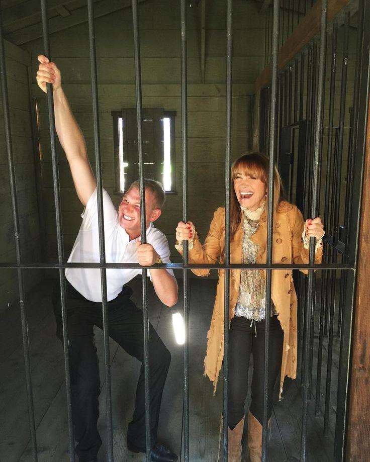 Jane Seymour Michaela Quinn And Son Kris In The Jail Of