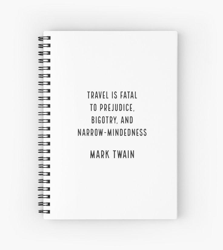 Mark Twain on Travel | Spiral Notebook