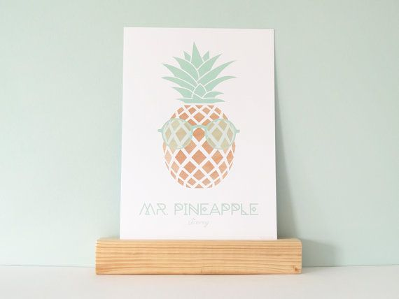Print Mr. Pineapple  Jimmy by YESIWOOD on Etsy, €10.00