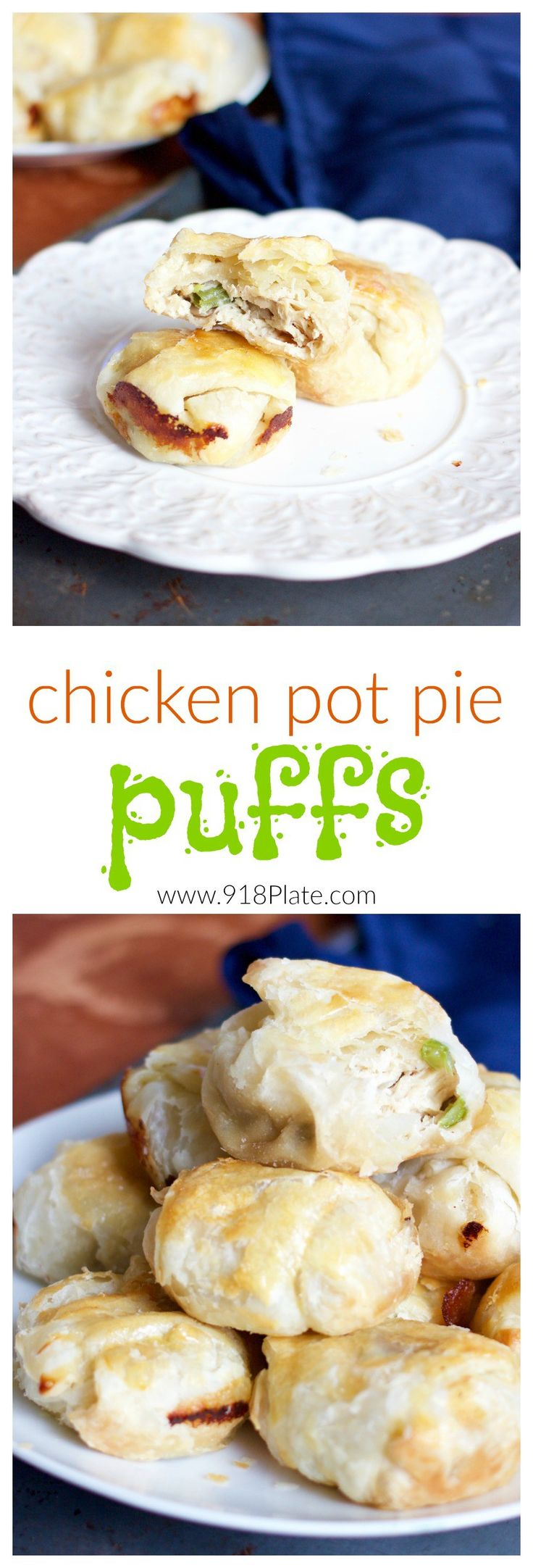 These chicken pot pie puffs are a fun way to get your veggies - they're always better when wrapped in a flaky pastry!