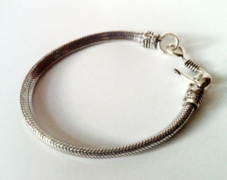 Silver rope chain bracelet,Men Silver bracelet,Women's Silver Bracelet,Men's Jewelry by Taneesi by taneesijewelry on Etsy