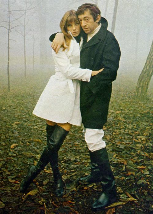 JB + SG: Thighs High Boots, Janebirkin, Fashion, Inspiration, Serge Gainsbourg, Black Boots, Style Icons, Trench Coats, Jane Birkin