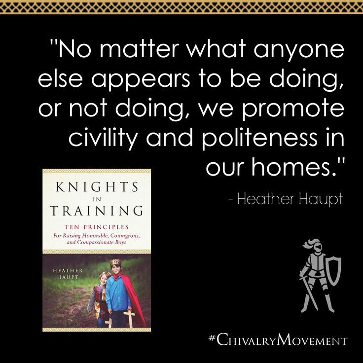 An exciting way to raise boys and restore civility! #knightsintraining #chivalrymovement
