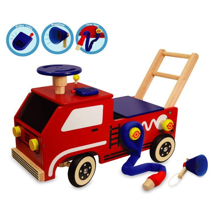 I'm Toy Walk & Ride Fire Engine