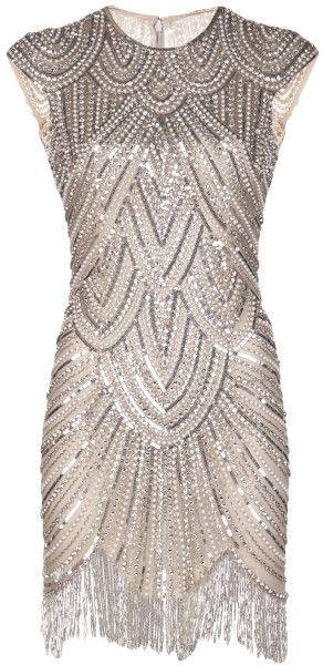 This is perfect for the after party. Naeem Khan Vintage Inspired Embellished Flapper Dress